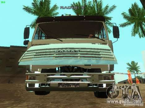 KAMAZ 6460 for GTA San Andreas side view