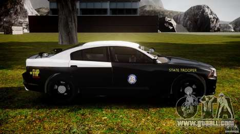 Dodge Charger 2012 Florida Highway Patrol [ELS] for GTA 4 back view