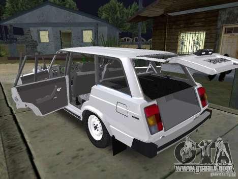 VAZ 2104 for GTA San Andreas inner view