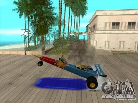 Dragg car for GTA San Andreas side view