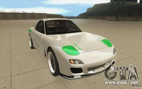 Mazda FD3S - Ebisu Style for GTA San Andreas back view