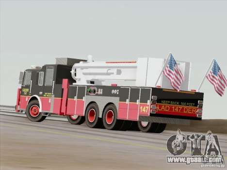Seagrave Marauder II. SFFD Ladder 147 for GTA San Andreas upper view