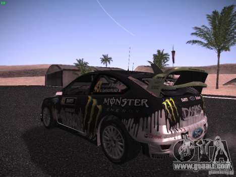 Ford Focus RS Monster Energy for GTA San Andreas right view