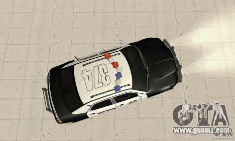 Chrysler 300C Police v2.0 for GTA San Andreas right view