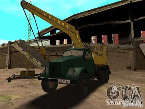 GAZ 51 mobile crane for GTA San Andreas