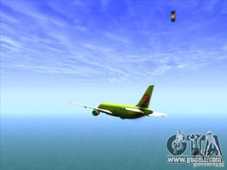Airbus A-320 S7Airlines for GTA San Andreas side view