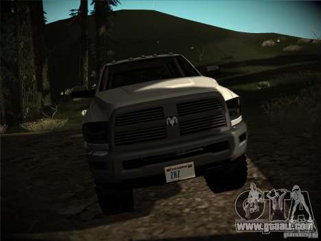 Dodge Ram 3500 4X4 for GTA San Andreas back view