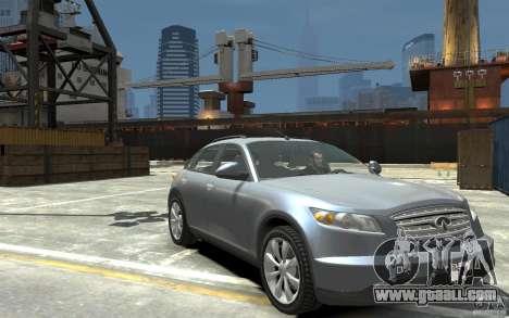 Infiniti FX45 for GTA 4 back view