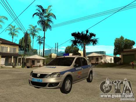 Dacia Logan Police for GTA San Andreas