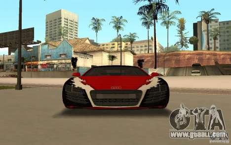 Audi R8 Le Mans Quattro for GTA San Andreas bottom view