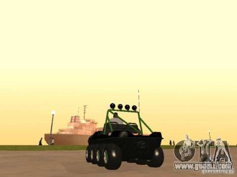 All-Terrain Vehicle Argo Avenger for GTA San Andreas back left view