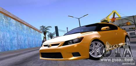 Scion Tc 2012 for GTA San Andreas upper view