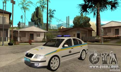 Skoda Octavia II Ukrainian TRAFFIC POLICE for GTA San Andreas