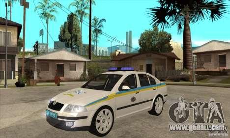 Skoda Octavia II Ukrainian TRAFFIC POLICE for GTA San Andreas