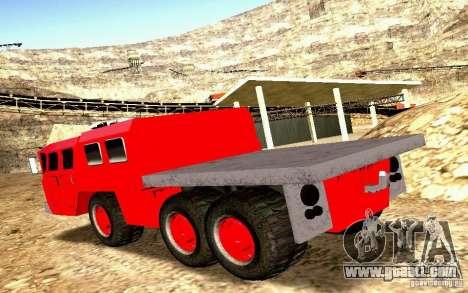 Maz-7310 Civil Narrow Version for GTA San Andreas inner view