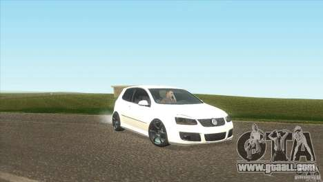 Volkswagen Golf for GTA San Andreas back view