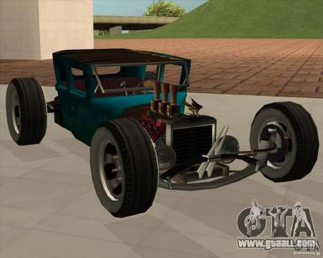 Ford model T 1925 ratrod for GTA San Andreas back left view
