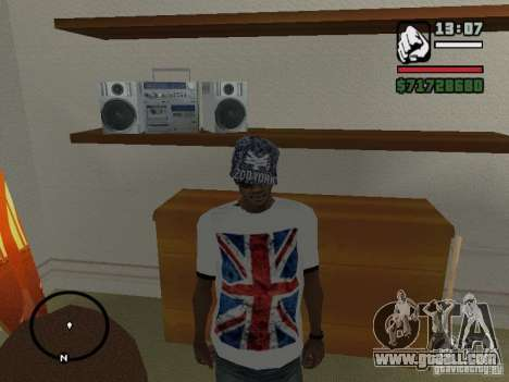 T-shirt with the flag of England for GTA San Andreas