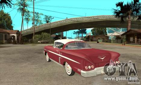 Chevrolet Impala 1958 for GTA San Andreas back left view