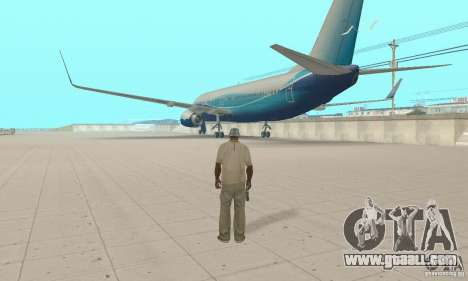 Boeing 737-800 for GTA San Andreas left view