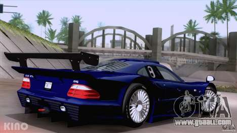 Mercedes-Benz CLK GTR Road Carbon Spoiler for GTA San Andreas left view