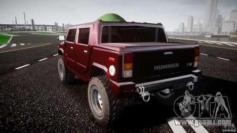 Hummer H2 4x4 OffRoad v.2.0 for GTA 4 back left view