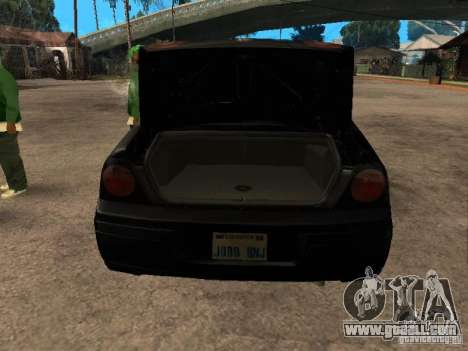 Chevrolet Impala Undercover for GTA San Andreas back view