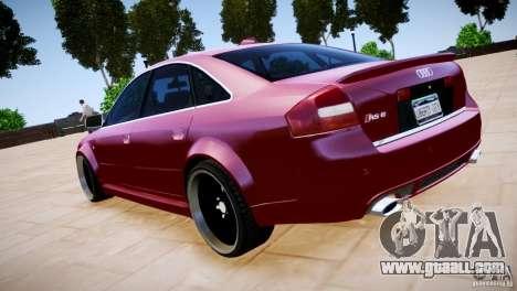 Audi RS6 for GTA 4 inner view