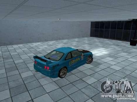 Nissan Skyline R 33 GT-R for GTA San Andreas back left view