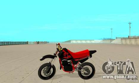 DT 180 Motard for GTA San Andreas back left view