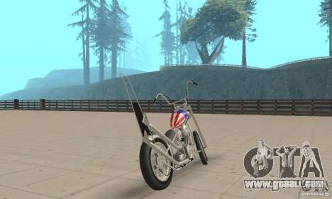 Captain America Chopper for GTA San Andreas left view