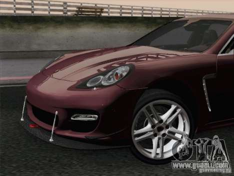 Porsche Panamera Turbo 2010 for GTA San Andreas engine