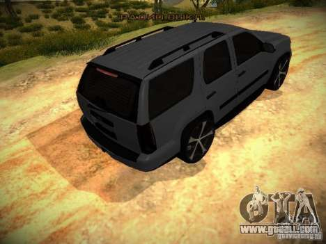 Chevrolet Tahoe HD Rimz for GTA San Andreas back view