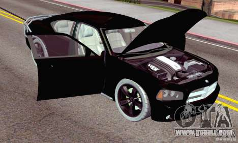 Dodge Charger Fast Five for GTA San Andreas engine