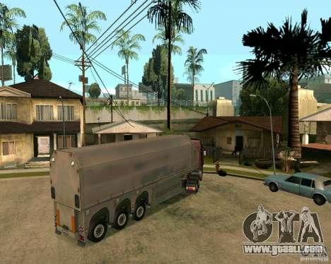 Trailer Steklovoz for GTA San Andreas left view