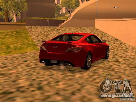 Hyundai Genesis Coupé 3.8 Track v1.0 for GTA San Andreas left view