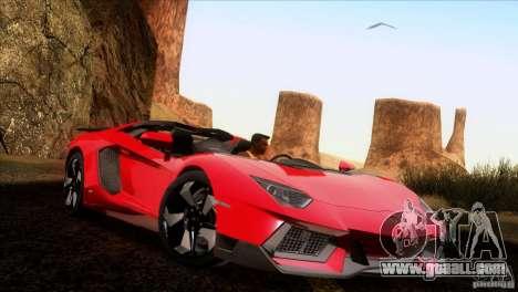 Lamborghini Aventador LP-700 J for GTA San Andreas back view