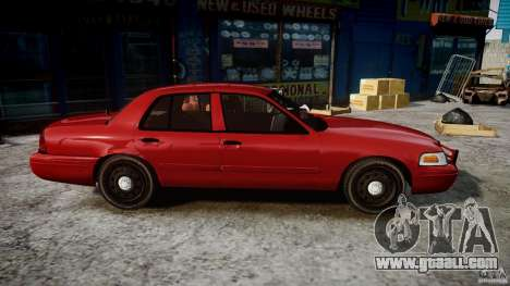 Ford Crown Victoria Detective v4.7 red lights for GTA 4 back view