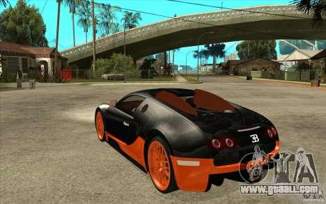 Bugatti Veyron Super Sport 2011 for GTA San Andreas left view