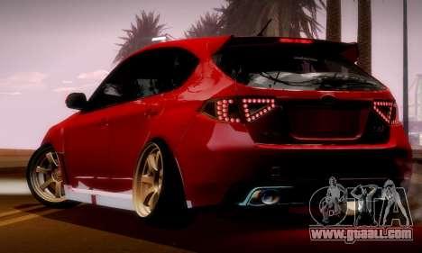 Subaru Impreza WRX Camber for GTA San Andreas inner view