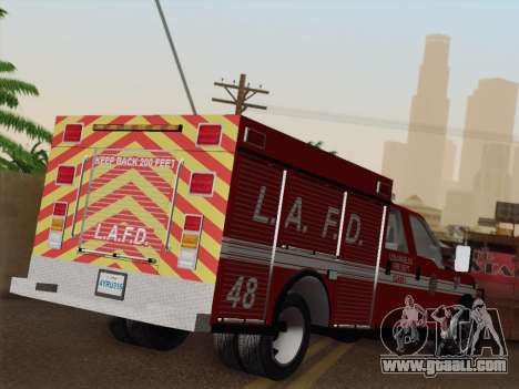 Ford F-350 Super Duty LAFD for GTA San Andreas bottom view
