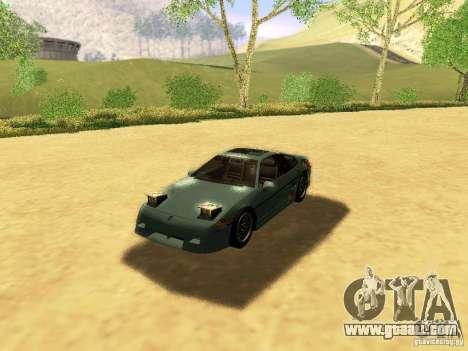 Pontiac Fiero V8 for GTA San Andreas engine