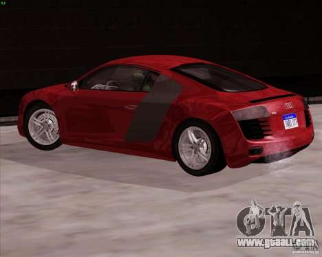 Audi R8 Production for GTA San Andreas left view