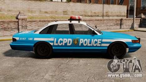 Vapid Police Cruiser ELS for GTA 4 left view