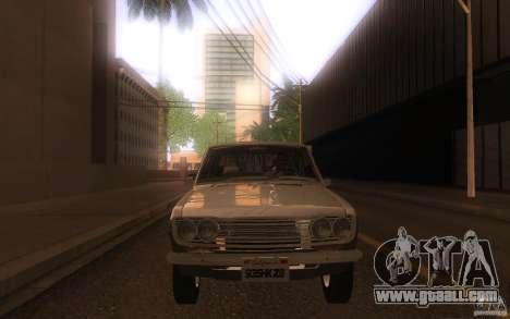 Datsun 510 4doors for GTA San Andreas inner view