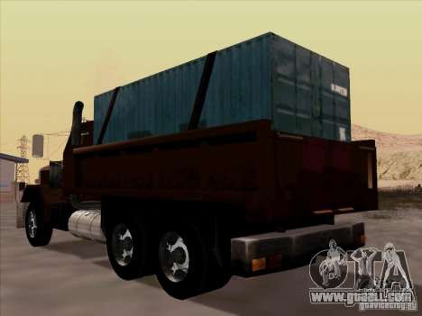 New Flatbed for GTA San Andreas back view