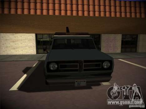 Sadler tow truck for GTA San Andreas right view