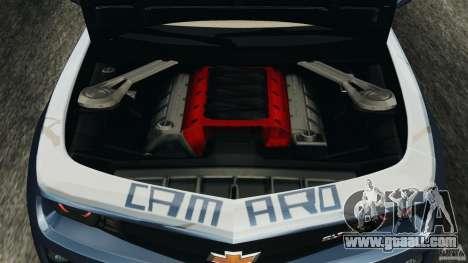Chevrolet Camaro ZL1 2012 v1.0 Smoke Stripe for GTA 4 upper view