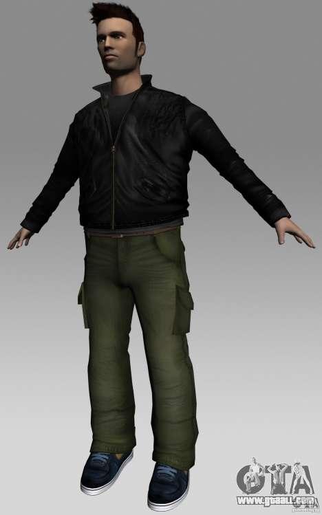 Claude HD from GTA III for GTA Vice City third screenshot