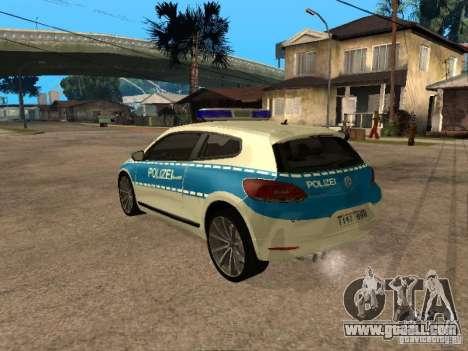 Volkswagen Scirocco German Police for GTA San Andreas left view